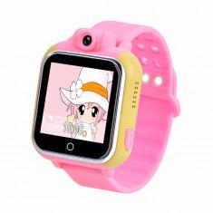 Ceas cu telefon Smartwatch cu GPS pentru copii Wonlex Pink Girl 3G cu camera...