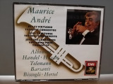 MAURICE ANDRE - TRUMPET CONCERTOS - 3CD (1988/EMI/UK) - CD ORIGINAL/Sigilat/Nou, emi records