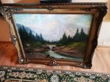 Tablou peisaj cu munti Neogrady Laszlo, Peisaje, Ulei, Altul