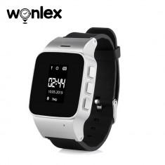 Ceas Smartwatch Pentru Copii Wonlex EW100 cu Functie Telefon, Localizare GPS, Pedometru, SOS - Argintiu