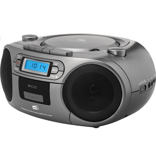 Sistem audio ECG CDR 999 DAB, 2 x 1,5W RMS, Radio, USB, CD, Casetofon, MP3, FM
