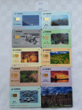 = LOT 454 - TAIWAN - 10 CARTELE TELEFONICE DIFERITE =
