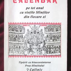 """""""CALENDAR pe tot anul cu VIETILE SFINTILOR din fiecare zi"""", 1997"""