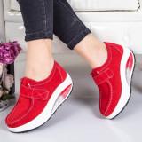 Pantofi Piele Arnavi rosii -rl
