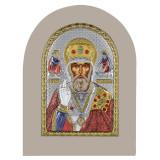 Cumpara ieftin Icoana argint Sfantul Nicolae 10x14cm COD: 3050