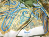 Brand Pollini , Italia esarfa vintage matase naturala 90 x 90 cm