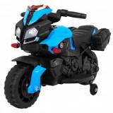 Motocicleta electrica pentru copii, cu sunete SkyBike, Bleu
