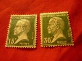 2 Timbre Franta 1923 -uzuale Pasteur , sarniera