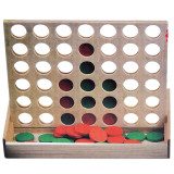 Joc Bingo de strategie din lemn, 4 in linie