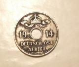AFRICA DE EST GERMANA 10 HELLER 1914 J RARITATE