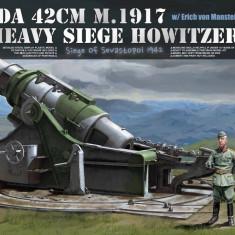 Macheta Takom, Skoda 42 cm M.1917 Heavy Siege Howitzer with Erich von Manstein 1:35