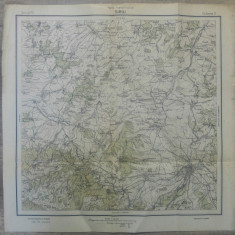 Sibiu// harta Serviciul Geografic Armatei 1916