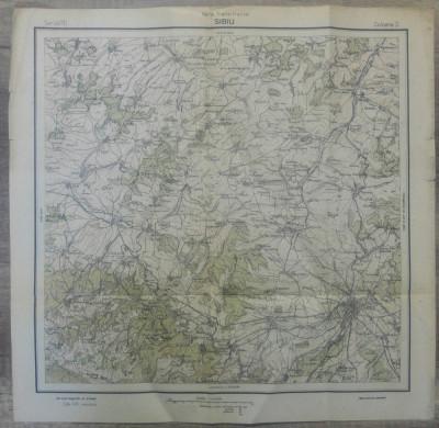 Sibiu// harta Serviciul Geografic Armatei 1916 foto