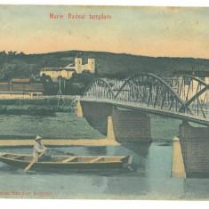 199 - MARIA RADNA, Arad, boat and bridge, Romania - old postcard - used - 1907, Circulata, Printata