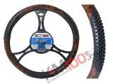 Husa volan Wood Tir material cauciucat diametru 49-51cm - BA-6452