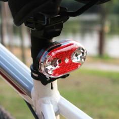 Stop bicicleta 9 LED-uri rosii, 7 moduri luminoase, clema fixare cadru