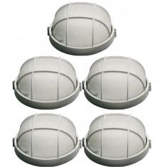 5 x Plafoniera cu grila, Aplica clasica, E27, Maxim 16A, Alba