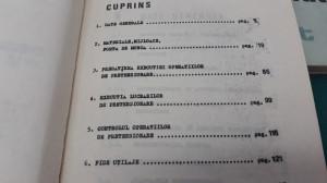 TEHNOLOGII TIP: TÂMPLARIE, PRECOMPRIMARE PE ȘANIER, TERASAMENTE, PRETURNĂRI/1983