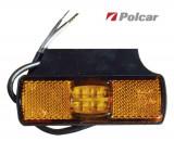 Lampa gabarit auto BestAutoVest 12/24V dreptunghiulara orange cu leduri, 97x30x12mm , 1 buc. Kft Auto