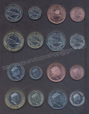 GIBRALTAR SET COMPLET MONEDE 1+2+5+10+20+50 Pence 1+2 Pound 2018 CALPE HOUSE UNC
