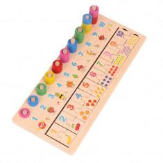 Joc din lemn asocieri cifre 3 in 1 invatarea numerelor