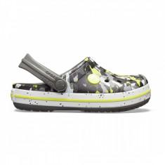 Saboți Copii casual Crocs Crocband Camo Speck Clog, 23.5 - 25.5, 27.5 - 30.5, Gri