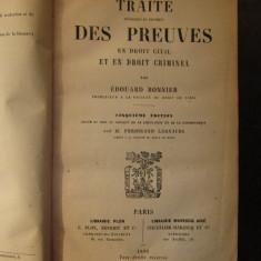 TRAITE DES PREUVES-EDOUARD BONNIER