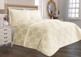 Cumpara ieftin Cuvertură de pat Valentini Bianco din brocard, model Amore Crem