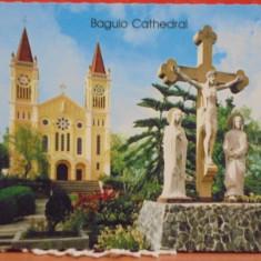 FILIPINE - BAGUIO - CATEDRALA CATOLICA DIN BAGUIO, CAPITALA DE VARA A TARII -