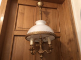 Candelabru,lustra,lampa rustica germana de tavan