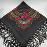 Cumpara ieftin Batic etno mare - Imprimeu floral panza Neagra