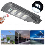 Cumpara ieftin Lampa stradala 90W cu panou solar, acumulator, senzor de miscare,suport de prindere inclus