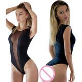 Cumpara ieftin Bluza TOP Body Teddy Dantela Piele PU Stocking Mesh Lady Lust SEXY