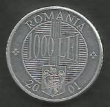 ROMANIA   1000 1.000 LEI 2001  [1]   XF++  a UNC  ,  livrare in cartonas