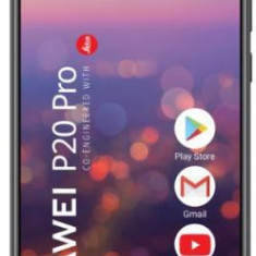 Telefon Mobil Huawei P20 Pro, Procesor Octa-Core 2.36/1.8 GHz, OLED Capacitive touchscreen 6.1inch, 6GB RAM, 128GB Flash, Camera Tripla 40+20+8MP, Wi-