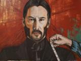 Tablou pictat manual John Wick, Abstract, Acrilic