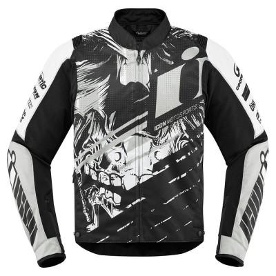 Geaca moto textil Icon Overlord Stim culoare Alb/ Negru, marime L Cod Produs: MX_NEW 28204547PE foto