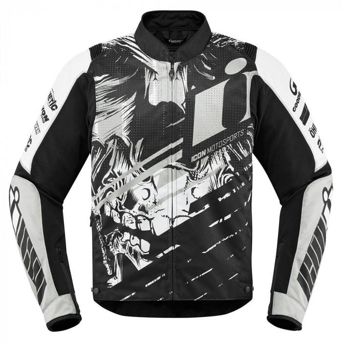Geaca moto textil Icon Overlord Stim culoare Alb/ Negru, marime L Cod Produs: MX_NEW 28204547PE