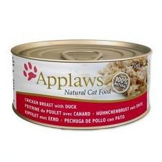 Conservă Applaws pentru pisici, Pui și Rață, 70 g