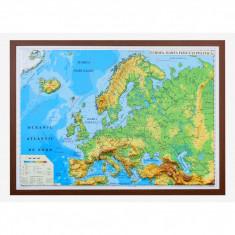Europa. Harta fizica si politica (3D) |