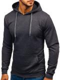 Bluza cu glugă pentru bărbați gri-antracit Bolf 5361