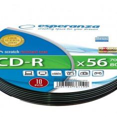 Mediu optic Esperanza CD-R Soft Pack 10 700MB 52x Silver
