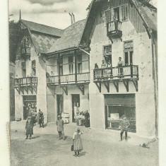 cp Borsec : Vila Heiter - circulata 1924, timbre