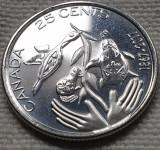 Monedă 25 cents 2017 Canada, unc, Hope for a Green Future, America de Nord