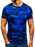 Tricou bărbați camuflaj-bleumarin Bolf S807