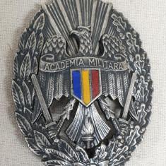 Insigna ACADEMIA MILITARA - FORTELE ARMATE ROMANE medalie numerotata