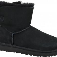 Pantofi de iarna UGG Mini Bailey Bow II 1016501-BLK pentru Femei