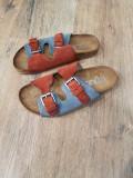 Papuci-sandale dama noi piele naturala integral comozi 37, Multicolor