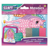 Set creativ mini-mozaic Brainstorm, 200 autocolante, 3 ani+, model unicorn
