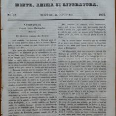 Ziarul Foaia pentru minte , inima si literatura , nr. 42 ,1853 ,Muresanu , Hateg